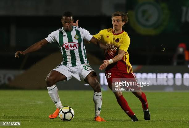 Vitoria Setubal defender Jose Semedo from Portugal with Rio Ave FC midfielder Francisco Geraldes from Portugal in action during the Primeira Liga...