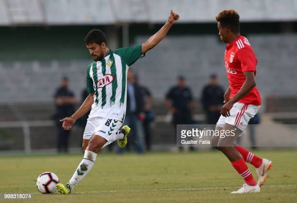 Vitoria Setubal defender Nuno Reis from Portugal in action during the PreSeason Friendly match between SL Benfica and Vitoria Setubal at Estadio do...