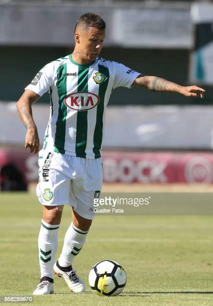 Vitoria Setubal defender Patrick Vieira from Brazil in action during the Primeira Liga match between Vitoria Setubal and SC Braga at Estadio do...