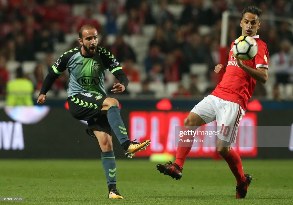 Vitoria Setubal defender Pedro Pinto from Portugal in action during the Portuguese Cup match between SL Benfica and Vitoria Setubal at Estadio da Luz on November 18, 2017 in Lisbon, Portugal.