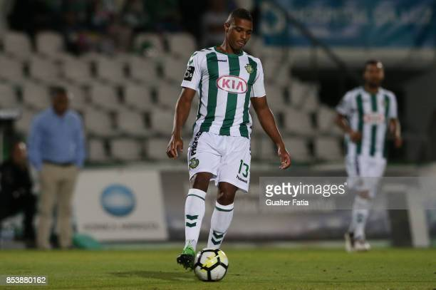 Vitoria Setubal defender Vasco Fernandes from Guinea Bissau in action during the Primeira Liga match between Vitoria Setubal and Boavista FC at...