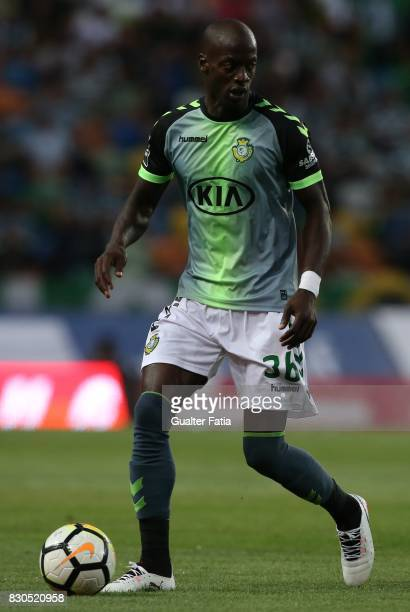 Vitoria Setubal forward Edinho from Portugal in action during the Primeira Liga match between Sporting CP and Vitoria Setubal at Estadio Jose...
