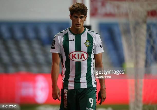 Vitoria Setubal forward Goncalo Paciencia from Portugal during the Primeira Liga match between CF Os Belenenses and Vitoria Setubal at Estadio do...