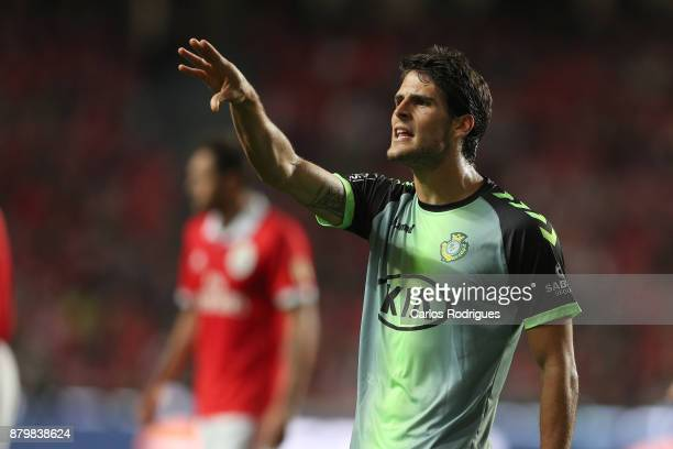 Vitoria Setubal forward Goncalo Paciencia from Portugal during the match between SL Benfica and FC Vitoria Setubal for the Portuguese Primeira Liga...