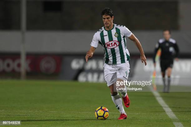 Vitoria Setubal forward Goncalo Paciencia from Portugal during the match between Vitoria de Setubal FC and SC Braga for the Portuguese League Cup at...