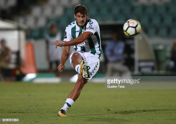 Vitoria Setubal forward Goncalo Paciencia from Portugal in action during the Primeira Liga match between Vitoria Setubal and Moreirense FC at Estadio...
