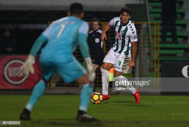 Vitoria Setubal forward Goncalo Paciencia from Portugal in action during the Portuguese League Cup match between Vitoria Setubal and SC Braga at...