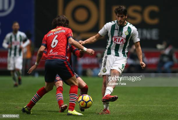 Vitoria Setubal forward Goncalo Paciencia from Portugal in action during the Taca da Liga Semi Final match between Vitoria de Setubal and UD...