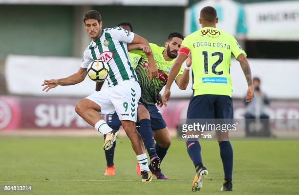Vitoria Setubal forward Goncalo Paciencia from Portugal with CS Maritimo defender Cristiano Gomes from Portugal in action during the Primeira Liga...