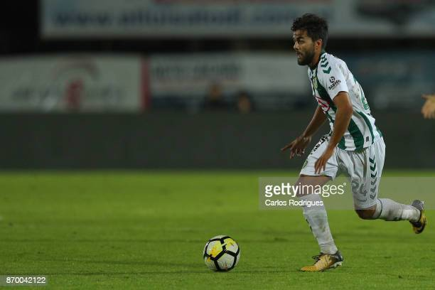 Vitoria Setubal forward Joao Amaral from Portugal during the match between Vitoria de Setubal FC and CD Aves for the round five of the Portuguese...