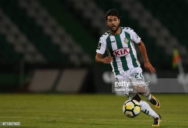Vitoria Setubal forward Joao Amaral from Portugal in action during the Primeira Liga match between Vitoria Setubal and CD Aves at Estadio do Bonfim...