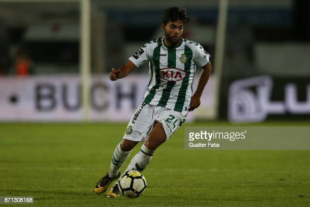 Vitoria Setubal forward Joao Amaral from Portugal in action during the Primeira Liga match between Vitoria Setubal and CD Aves at Estadio do Bonfim...