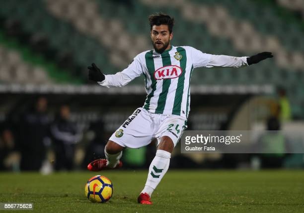 Vitoria Setubal forward Joao Amaral from Portugal in action during the Primeira Liga match between Vitoria Setubal and Vitoria de Guimaraes at...