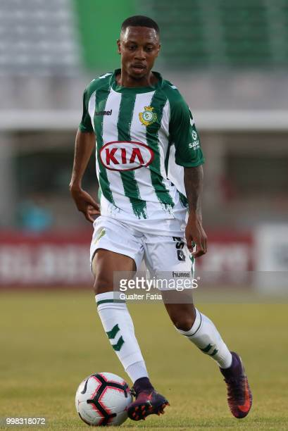 Vitoria Setubal forward Leandro Resinda from Netherlands in action during the PreSeason Friendly match between SL Benfica and Vitoria Setubal at...