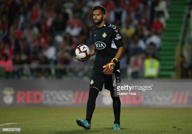 Vitoria Setubal goalkeeper Cristiano from Portugal in action during the PreSeason Friendly match between SL Benfica and Vitoria Setubal at Estadio do...