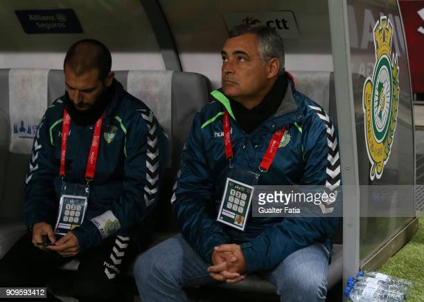 Vitoria Setubal head coach Jose Couceiro from Portugal before the start of the Taca da Liga Semi Final match between Vitoria de Setubal and UD...