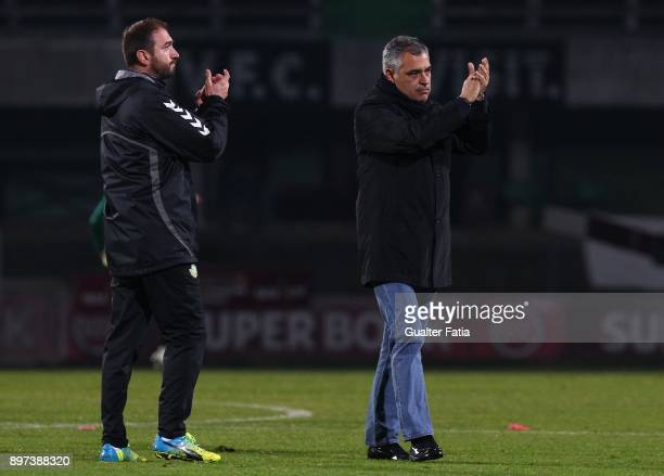Vitoria Setubal head coach Jose Couceiro from Portugal celebrates the victory and the qualification for the Final Four of the Portuguese League Cup...