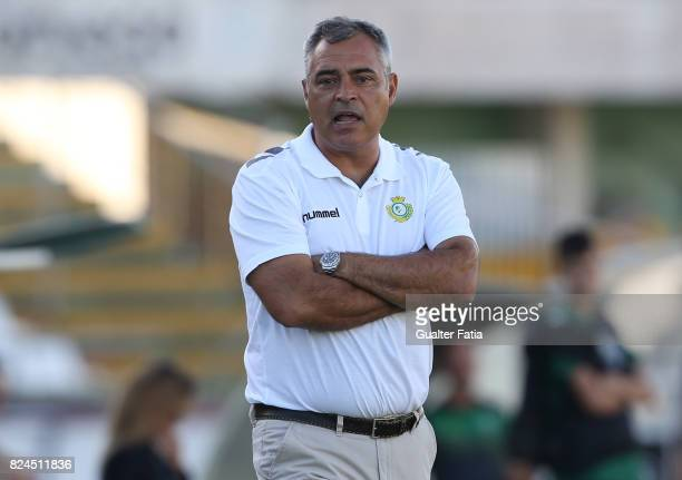 Vitoria Setubal head coach Jose Couceiro from Portugal in action during the League Cup match between Vitoria Setubal and CD Tondela at Estadio do...