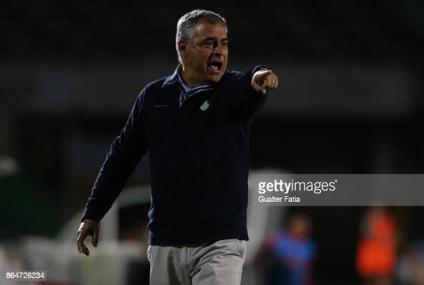 Vitoria Setubal head coach Jose Couceiro from Portugal in action during the Primeira Liga match between Vitoria Setubal and CS Maritimo at Estadio do...
