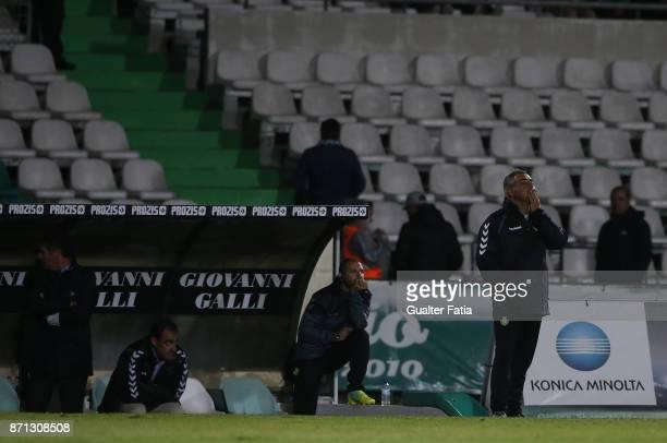 Vitoria Setubal head coach Jose Couceiro from Portugal in action during the Primeira Liga match between Vitoria Setubal and CD Aves at Estadio do...