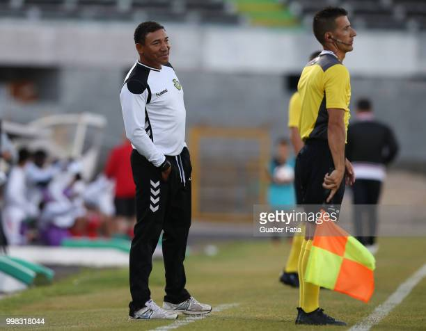 Vitoria Setubal head coach Lito Vidigal from Portugal in action during the PreSeason Friendly match between SL Benfica and Vitoria Setubal at Estadio...