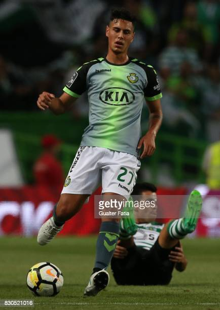 Vitoria Setubal midfielder Andre Pedrosa from Portugal in action during the Primeira Liga match between Sporting CP and Vitoria Setubal at Estadio...