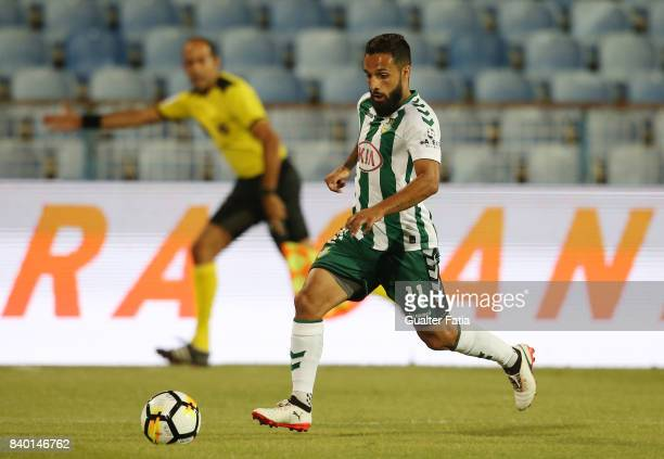 Vitoria Setubal midfielder Joao Costinha from Portugal in action during the Primeira Liga match between CF Os Belenenses and Vitoria Setubal at...