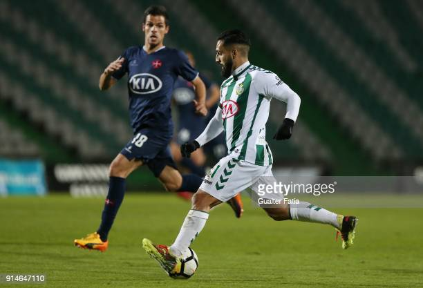 Vitoria Setubal midfielder Joao Costinha from Portugal in action during the Primeira Liga match between Vitoria Setubal and CF Os Belenenses at...