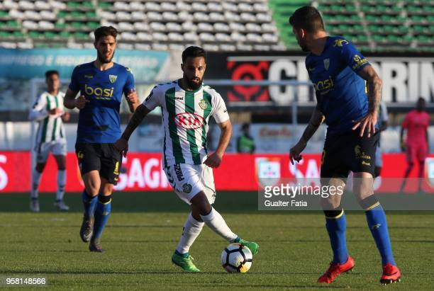 Vitoria Setubal midfielder Joao Costinha from Portugal in action during the Primeira Liga match between Vitoria Setubal and CD Tondela at Estadio do...