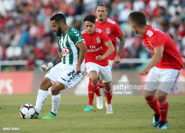 Vitoria Setubal midfielder Joao Costinha from Portugal in action during the PreSeason Friendly match between SL Benfica and Vitoria Setubal at...