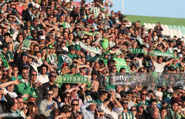 Vitoria Setubal supporters during the Primeira Liga match between Vitoria Setubal and CD Tondela at Estadio do Bonfim on April 13 2018 in Setubal...