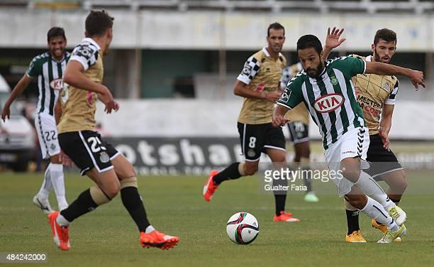 Vitoria Setubal's forward Costinha with Boavista FC's forward Luisinho in action during the Primeira Liga match between Vitoria Setubal and Boavista...