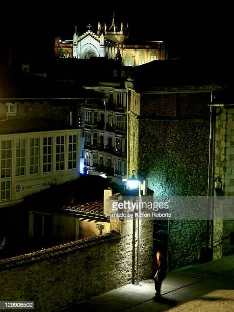 vitoria-gasteiz at night - vitoria spain stock pictures, royalty-free photos & images