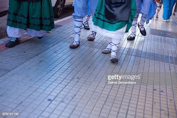 vitoria-gasteiz spain. the day of santiago - pais vasco fotografías e imágenes de stock