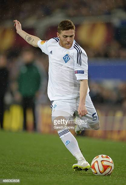 Vitorino Antunes of FC Dynamo Kyiv during the UEFA Europa League Round of 16 match between Everton FC and FC Dynamo Kyiv on March 12, 2015 in...
