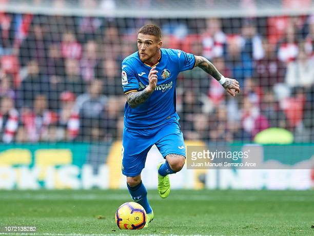 Vitorino Antunes of Getafe CF in action during the La Liga match between Athletic Club and Getafe CF at San Mames Stadium on November 25, 2018 in...