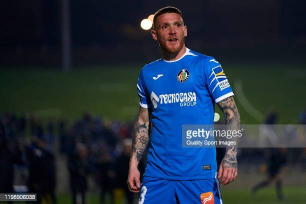 Vitorino Antunes of Getafe looks on during the Copa del Rey First Round match between CF Badalona and Getafe at Municipal de Badalona on January 11,...