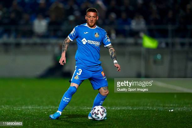 Vitorino Antunes of Getafe with the ball during the Copa del Rey First Round match between CF Badalona and Getafe at Municipal de Badalona on January...