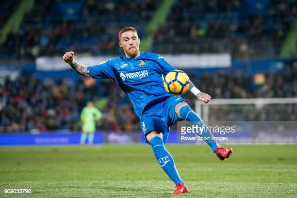 Vitorino Gabriel Pacheco Antunes of Getafe CF in action during the La Liga 2017-18 match between Getafe CF and Malaga CF at Coliseum Alfonso Perez on...