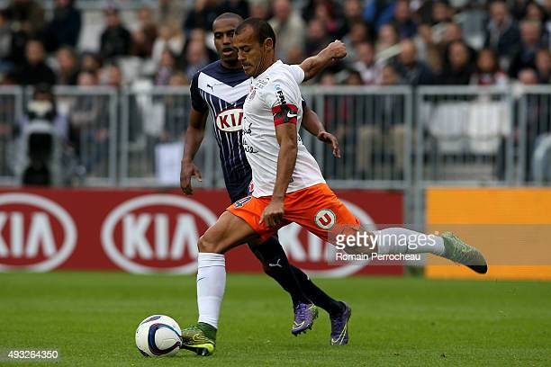 Vitorino Hilton for Montpellier Herault SC in action during the French Ligue 1 game between FC Girondins de Bordeaux and Montpellier Herault SC at...