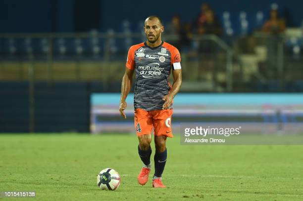 Vitorino Hilton of Montpellier during the French Ligue 1 match between Montpellier and Dijon at Stade de la Mosson on August 11 2018 in Montpellier...