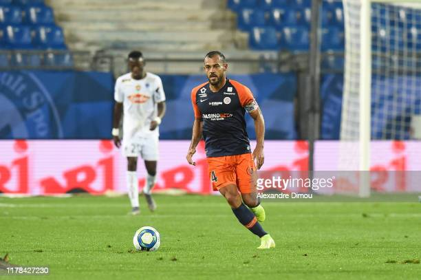 Vitorino HILTON of Montpellier during the Ligue 1 match between Montpellier and Angers at Stade de la Mosson on October 26, 2019 in Montpellier,...