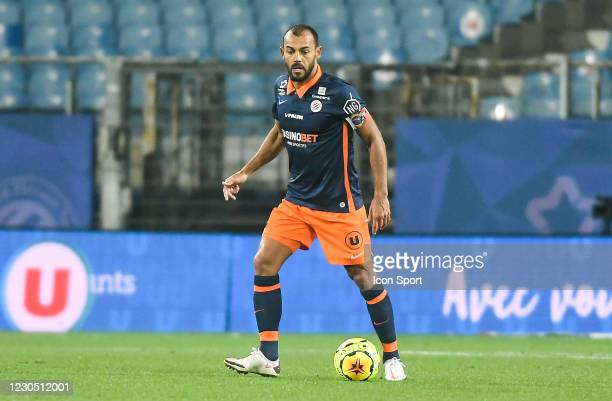 Vitorino HILTON of Montpellier during the Ligue 1 match between Montpellier HSC and FC Nantes at Stade de la Mosson on January 9, 2021 in...