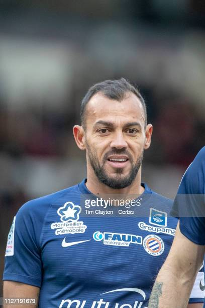 February 3: Vitorino Hilton of Montpellier during the Nimes V Montpellier, French Ligue 1, regular season match at Stade des Costières on February...