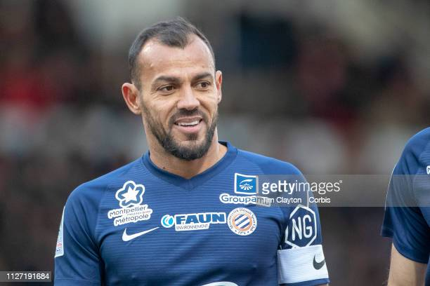 Vitorino Hilton of Montpellier during the Nimes V Montpellier French Ligue 1 regular season match at Stade des Costières on February 3rd 2019 Nimes...