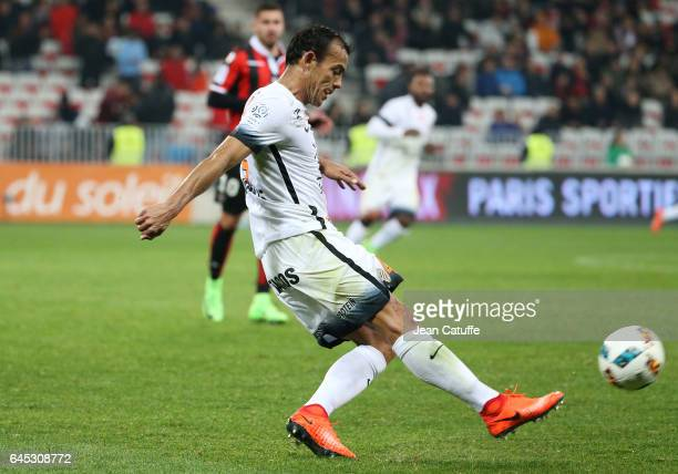Vitorino Hilton of Montpellier in action during the French Ligue 1 match between OGC Nice and Monptellier Herault SC at Allianz Riviera stadium on...