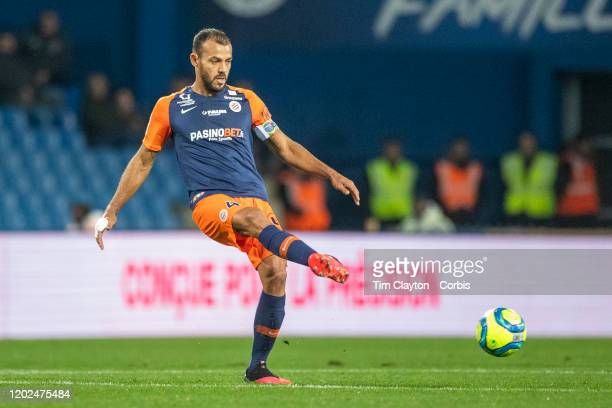 Vitorino Hilton of Montpellier in action during the Montpellier V Dijon French Ligue 1 regular season match at Stade de la Mosson on January 25th...