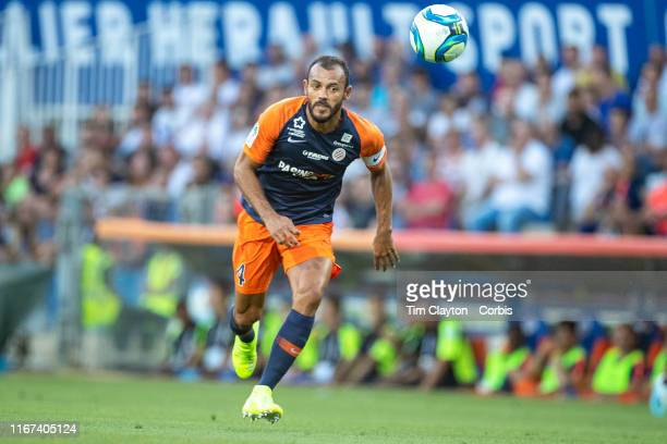 Vitorino Hilton of Montpellier in action during the Montpellier Vs Stade Rennes French Ligue 1 regular season match at Stade de la Mosson on August...