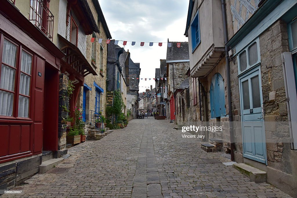 Vitre city street in Brittany : Stock Photo