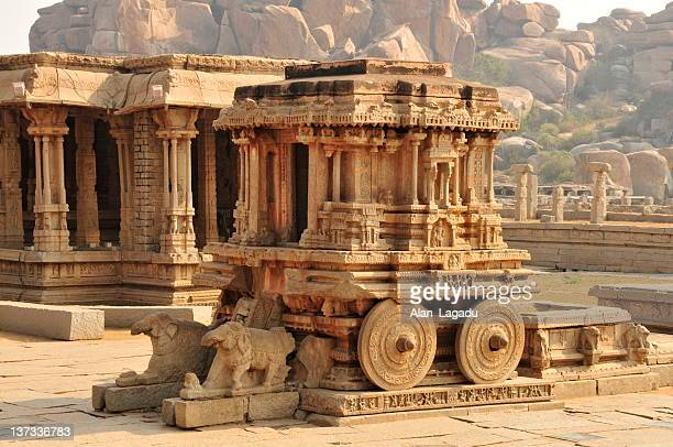 vittala temple stone chariot,hampi,karnataka,india. - ancient stock pictures, royalty-free photos & images